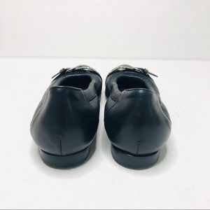 Agl Shoes - AGL Ballet Flats Patent Leather Cap Toe Buckle
